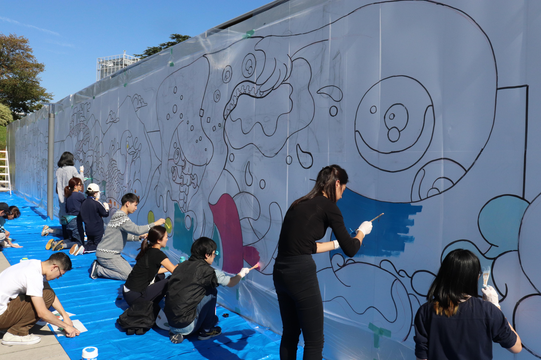 Taki Plaza 建設現場アートプロジェクト メイキング映像公開
